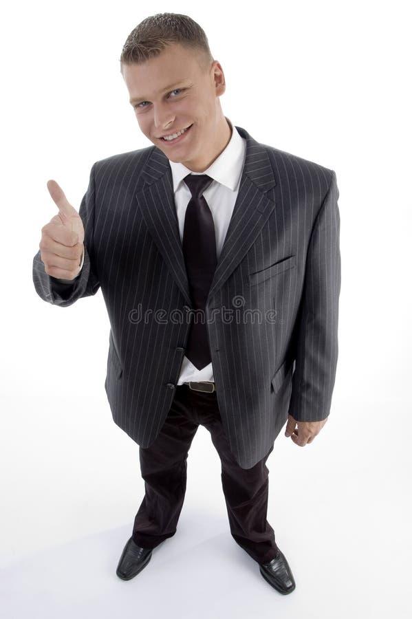 uśmiechnięte biznesmen aprobaty fotografia royalty free