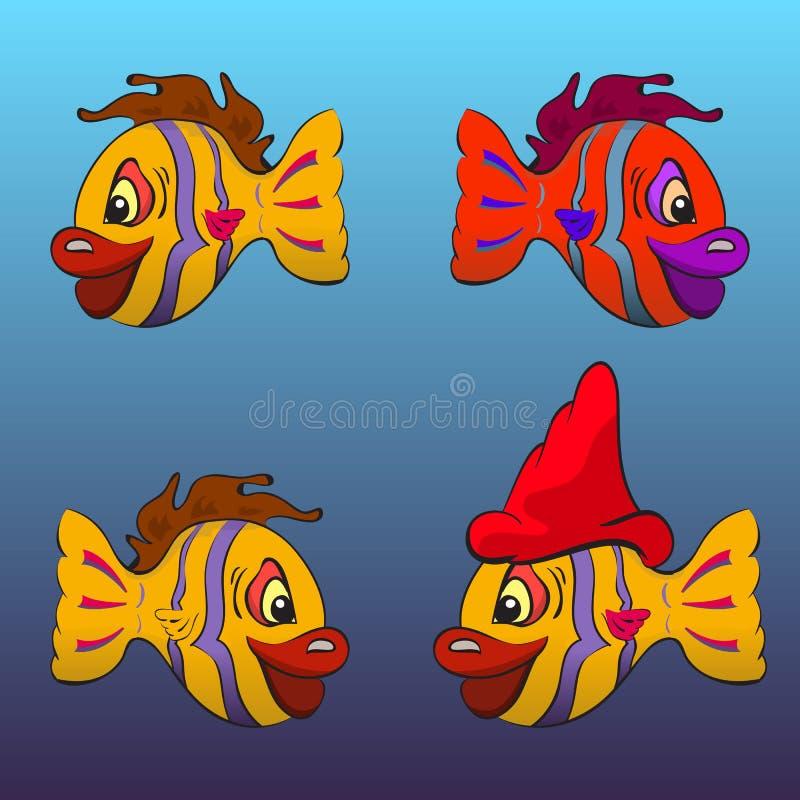 Uśmiechnięte kreskówek ryba royalty ilustracja