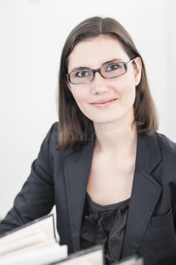 Uśmiechnięte piękne biznesowe kobiety obraz stock