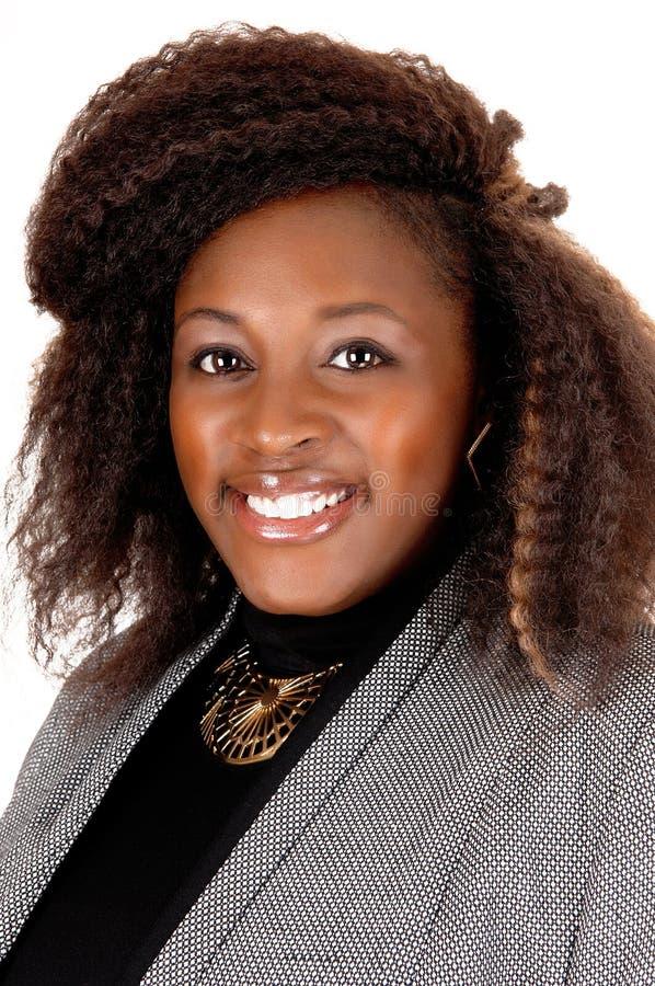 Uśmiechnięty Afrykański kobieta portret zdjęcie royalty free