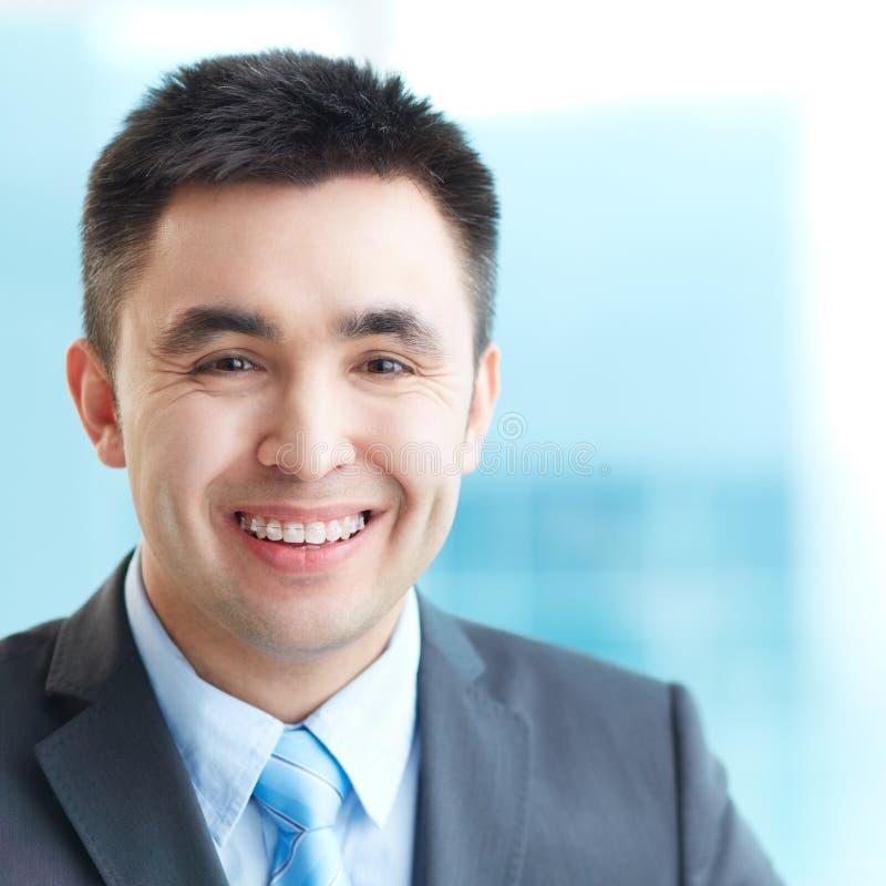 Uśmiechnięty biznesmen obraz stock