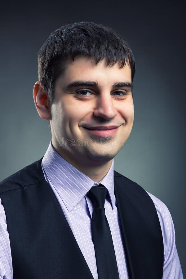 Uśmiechnięty biznesmen fotografia stock