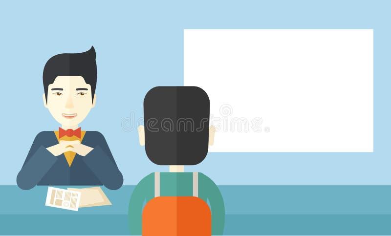 Uśmiechnięty działu zasobów ludzkich kierownik ilustracji