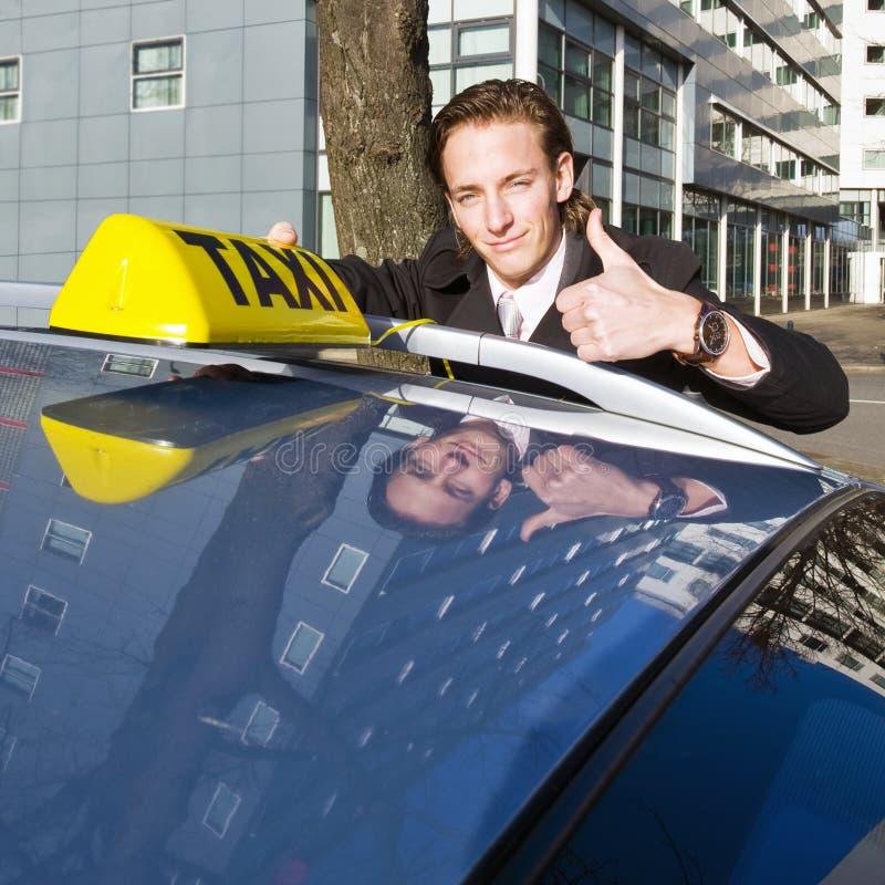 uśmiechnięty kierowcy taxi obraz stock