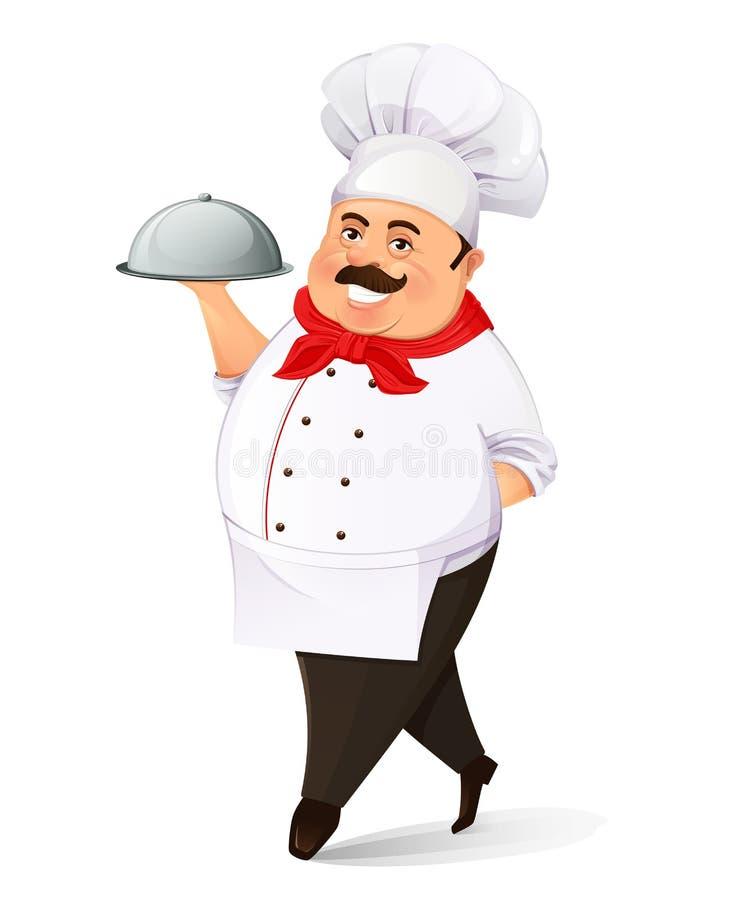 Uśmiechnięty kucharz ilustracji