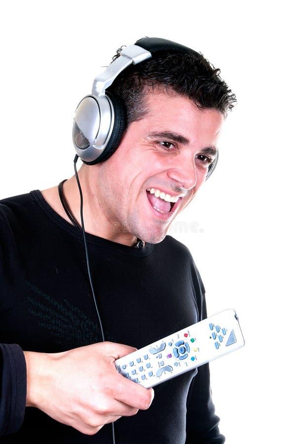 Uśmiechnięty mężczyzna z Valentin sercem w ręce fotografia stock