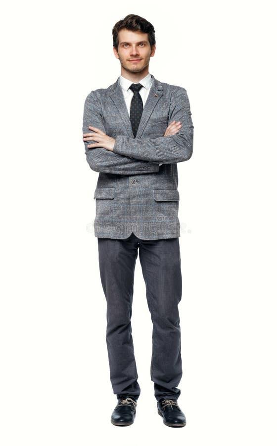 Uśmiechnięty Młody Biznesmen Frontowy widok fotografia stock