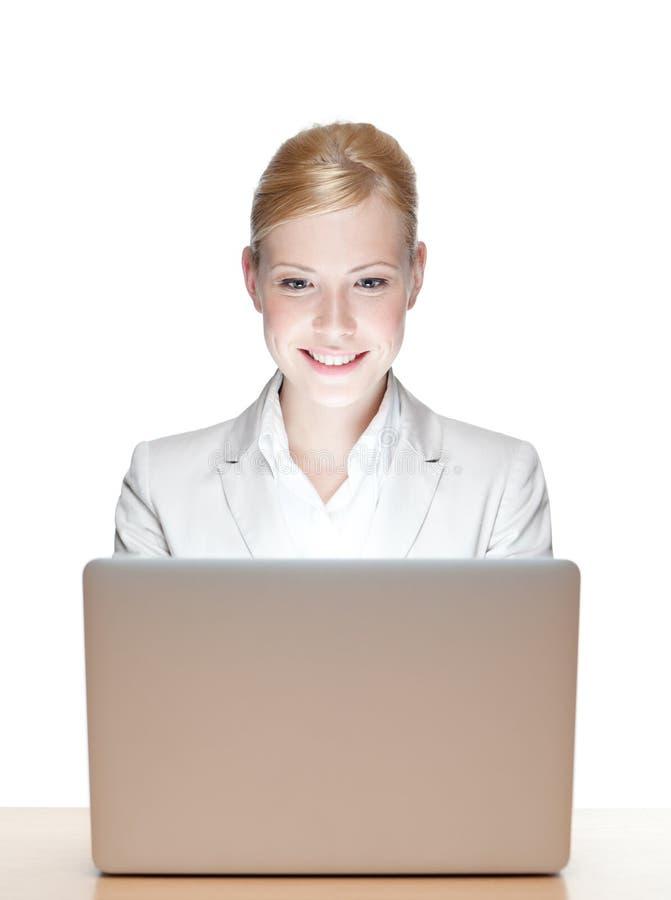 Uśmiechnięty młody bizneswoman zdjęcia stock
