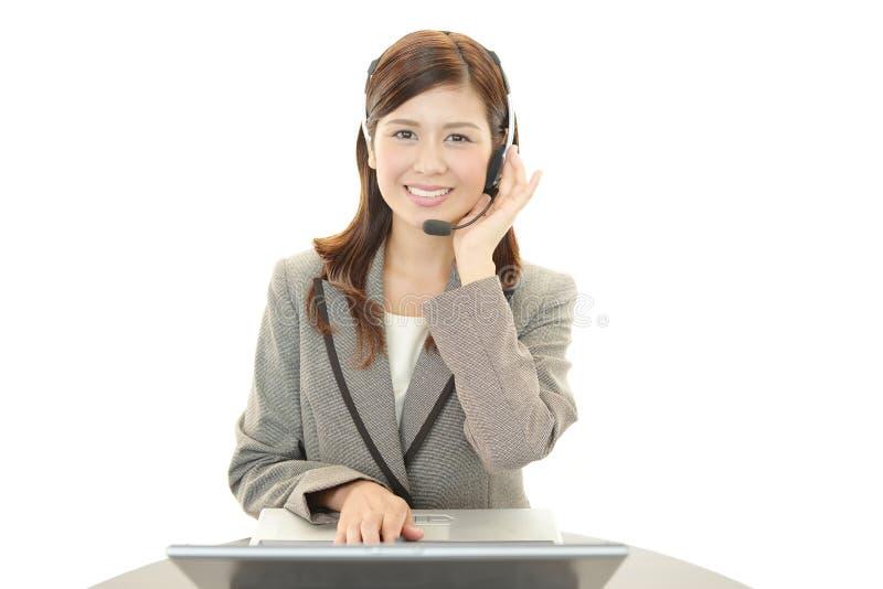 Uśmiechnięty obsługa klienta operator obraz stock