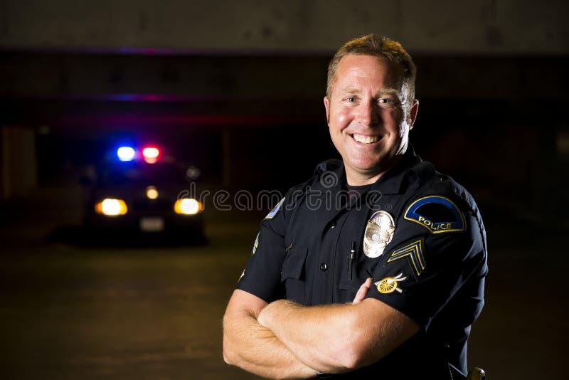 Uśmiechnięty oficer obraz royalty free
