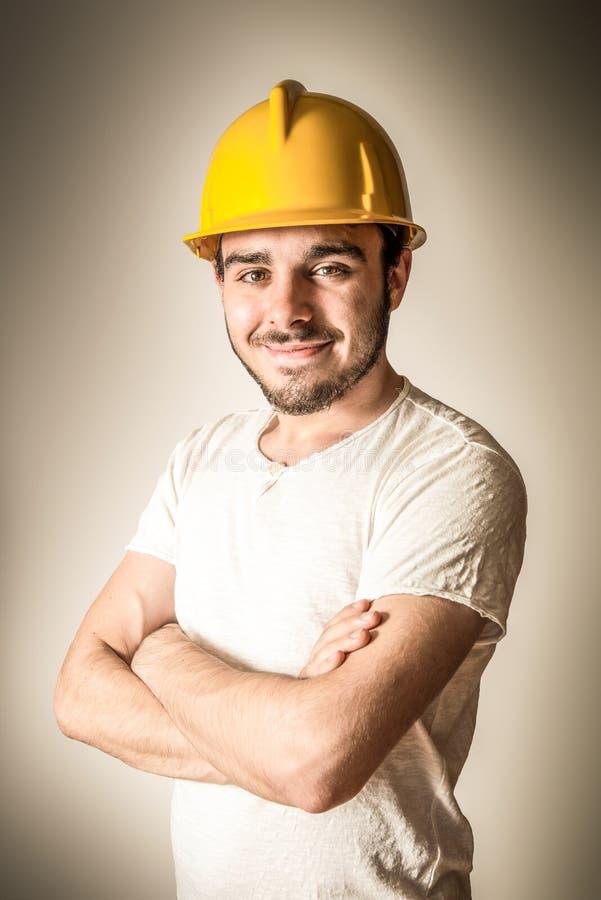 Uśmiechnięty pracownik zdjęcie stock