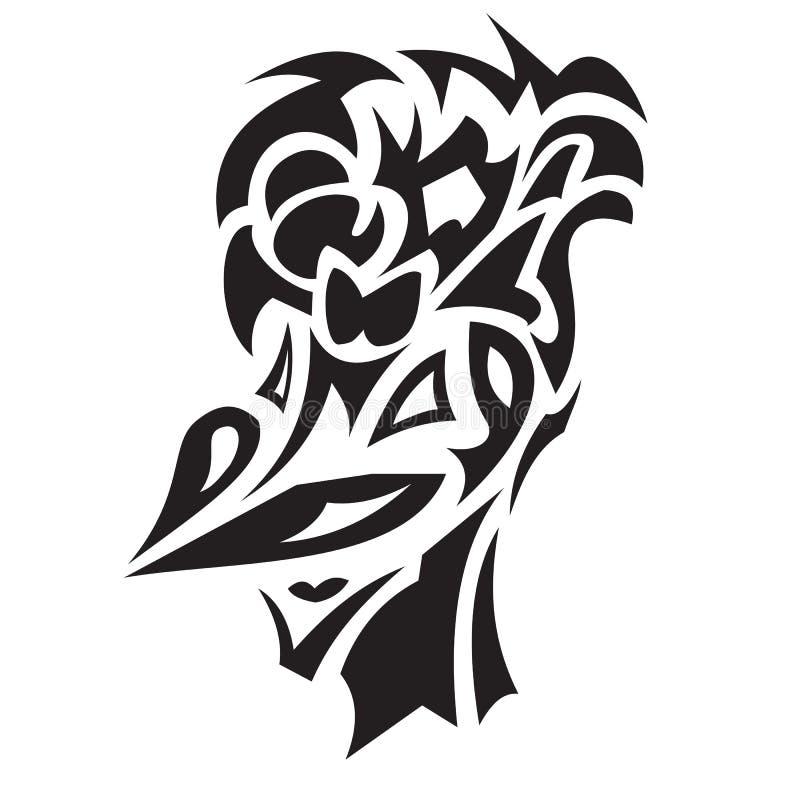 Uśmiechnięty ptasi tatuaż royalty ilustracja