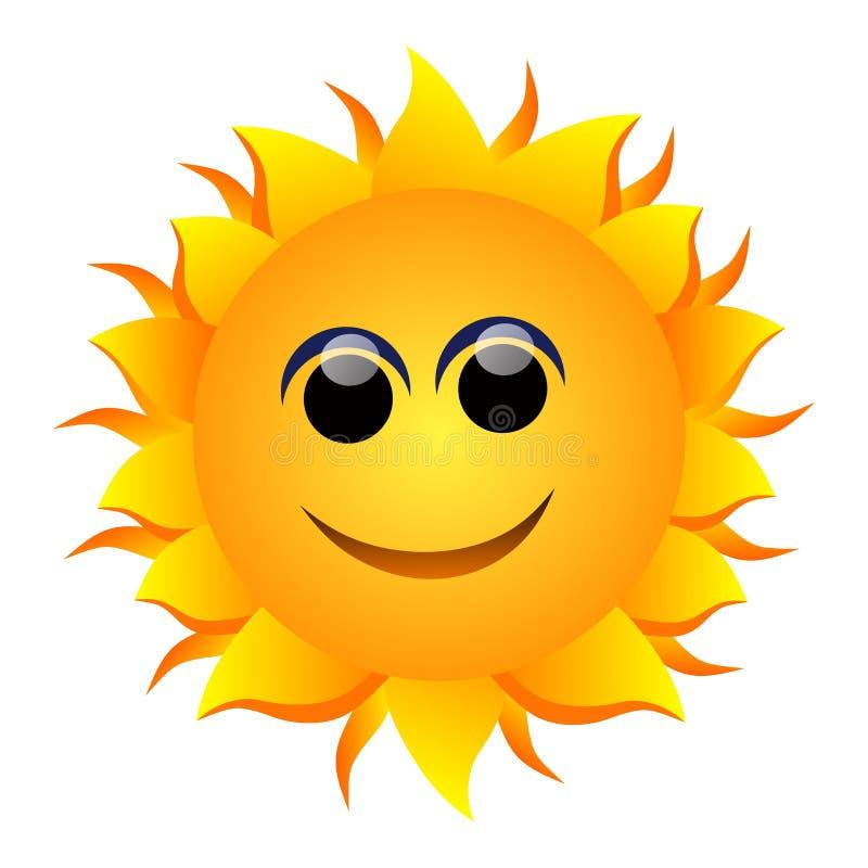 Uśmiechnięty słońce ilustracja wektor