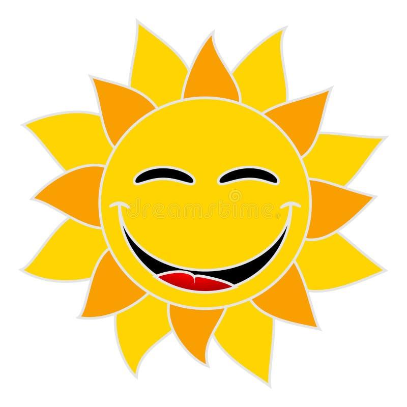 Uśmiechnięty słońce na białym tle zdjęcia royalty free