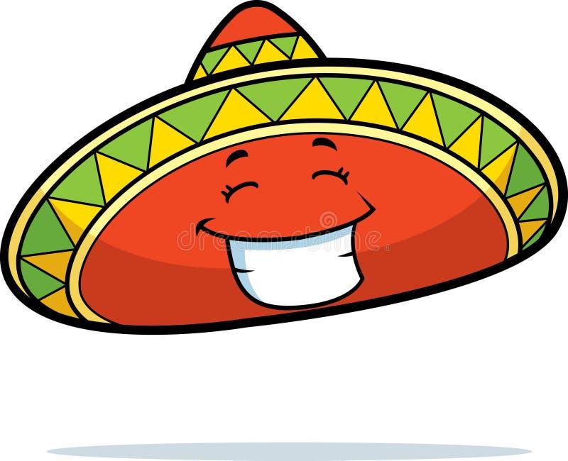 uśmiechnięty sombrero ilustracji