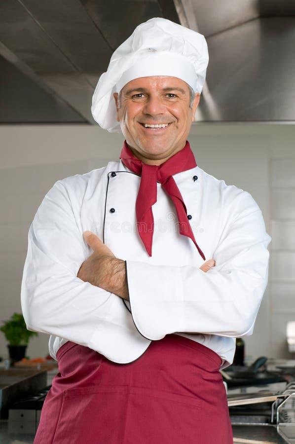 Uśmiechnięty szef kuchni obraz stock
