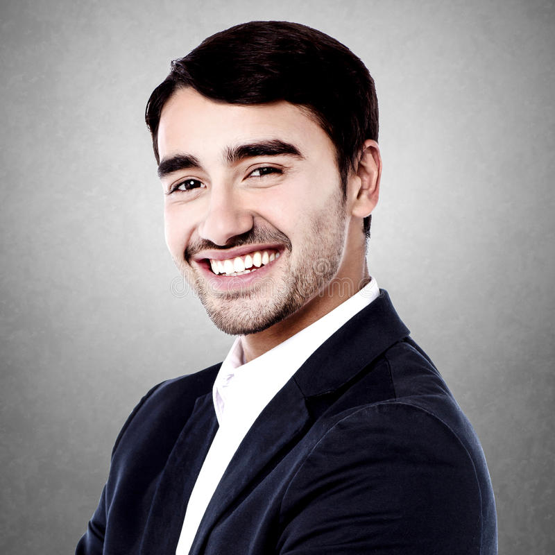 Uśmiechnięty ufny dyrektor wykonawczy fotografia royalty free