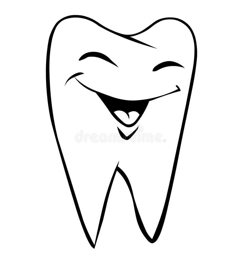 uśmiechnięty ząb ilustracji
