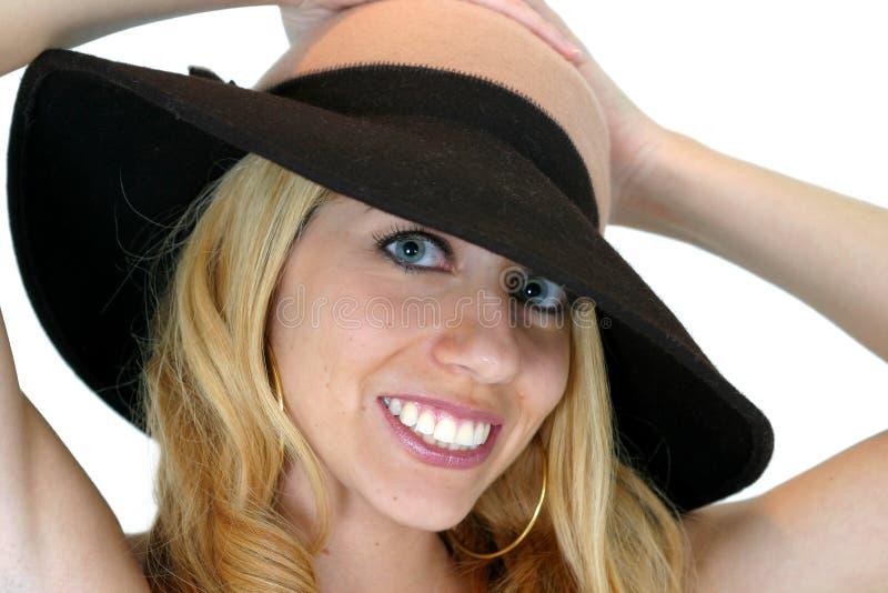 uśmiechnij się kapelusza zdjęcia royalty free