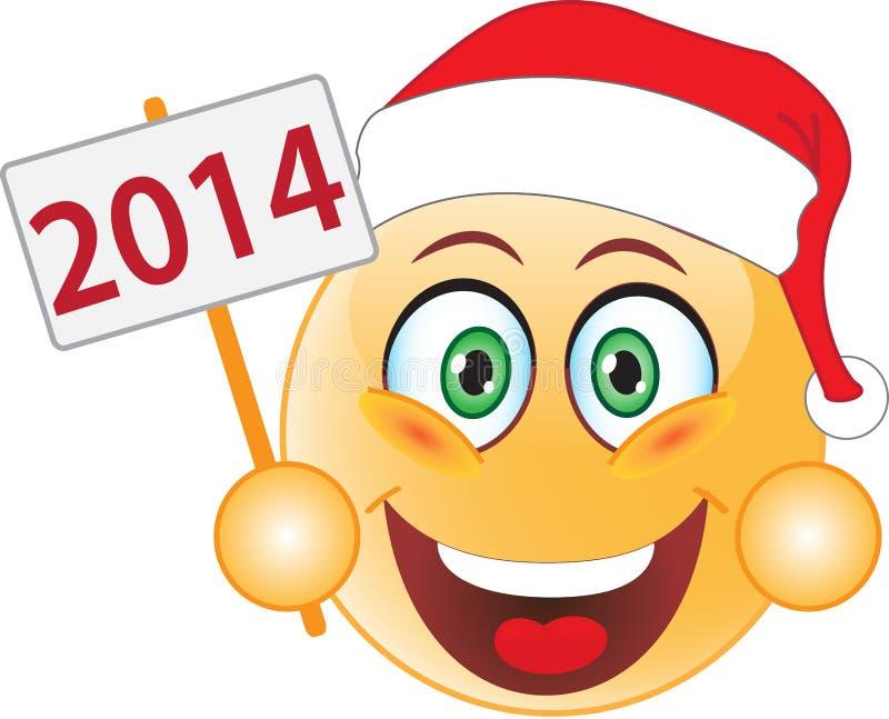 Uśmiechu nowy rok, boże narodzenia. Uśmiech. royalty ilustracja