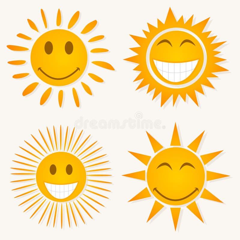 uśmiechu słońce royalty ilustracja