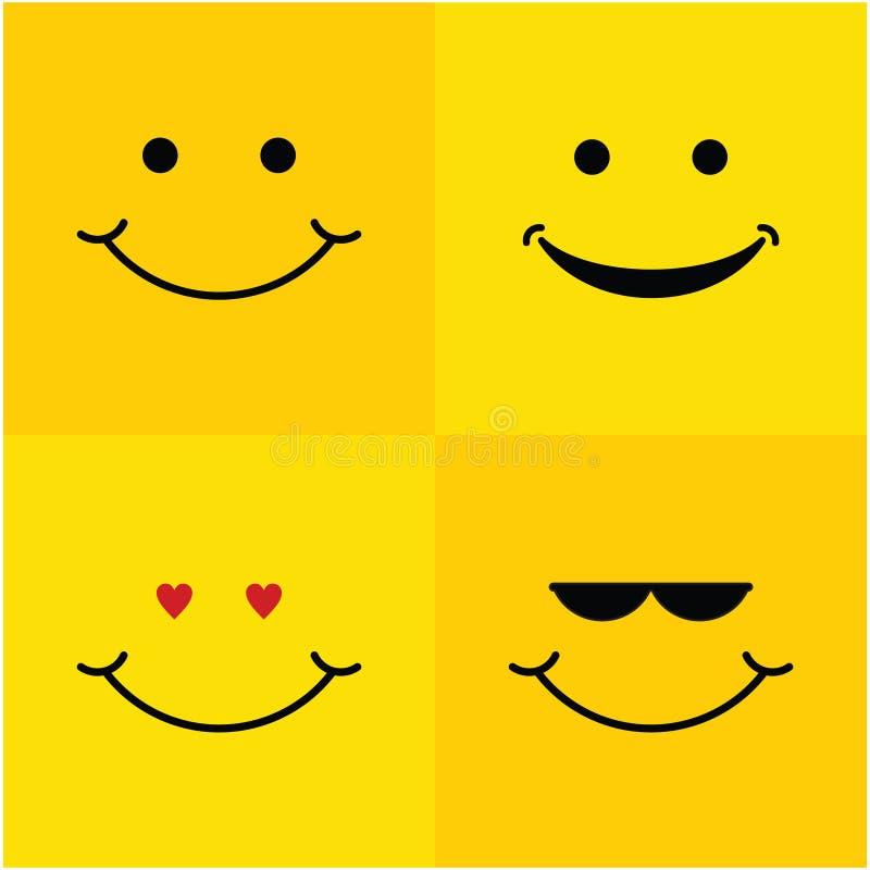 Uśmiechu szablonu projekta Ustalona Wektorowa ilustracja ilustracja wektor