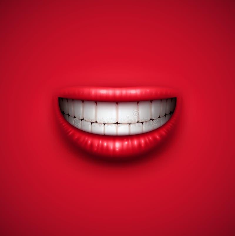 Uśmiechu tło ilustracji