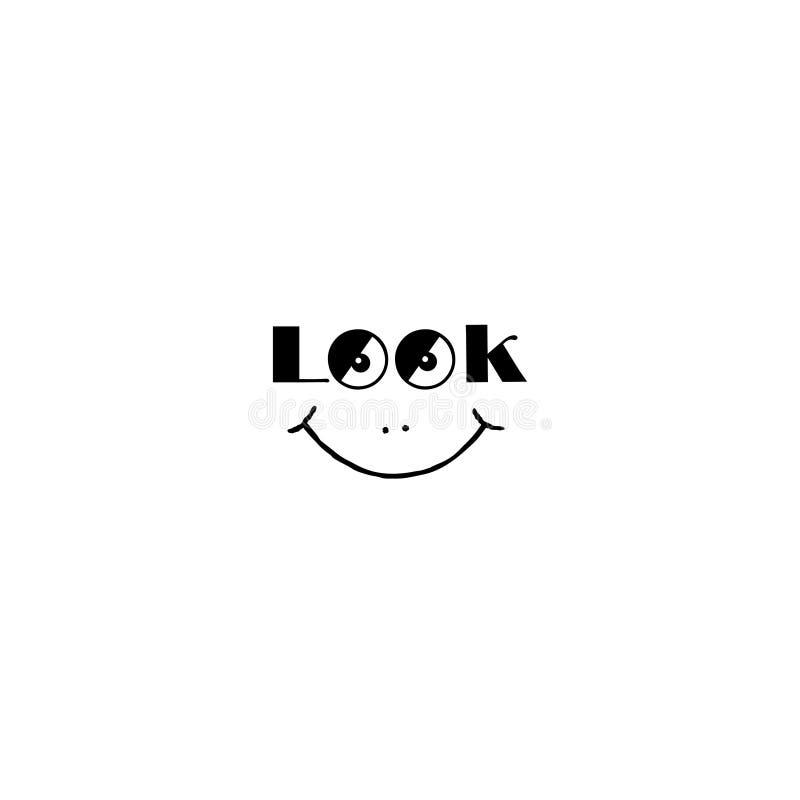 Uśmiechu znak Patrzeje ja smily symbol Dobra trybowa ikona z ono uśmiecha się royalty ilustracja