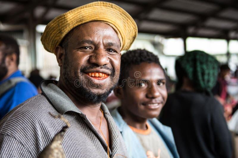 Uśmiechy Papua - nowa gwinea fotografia royalty free