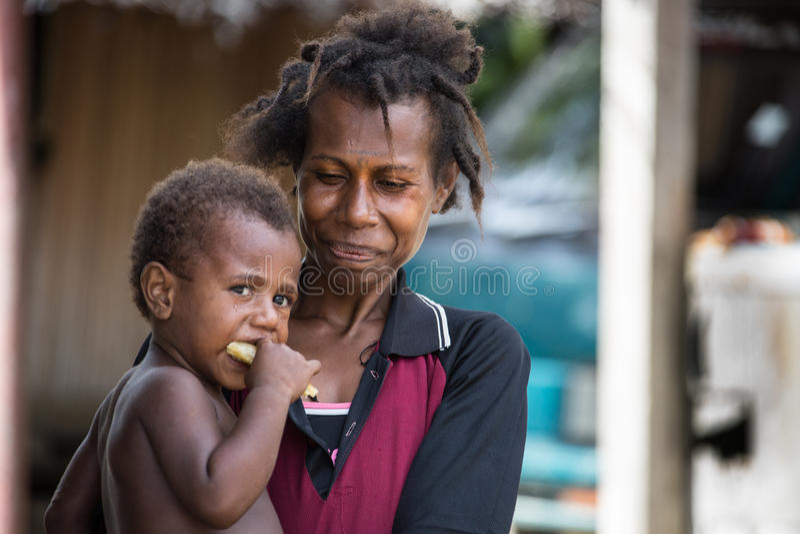 Uśmiechy Papua - nowa gwinea zdjęcia stock