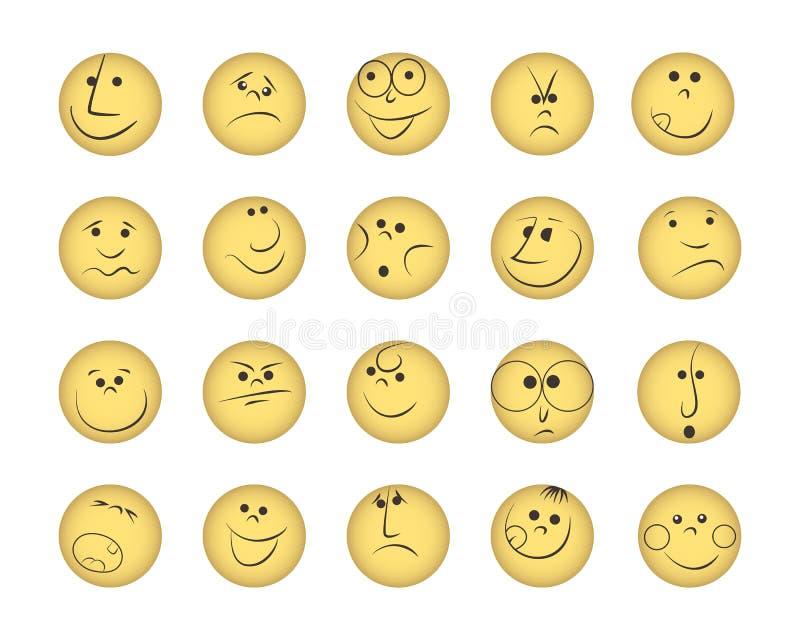 uśmiechy zestawów ilustracja wektor