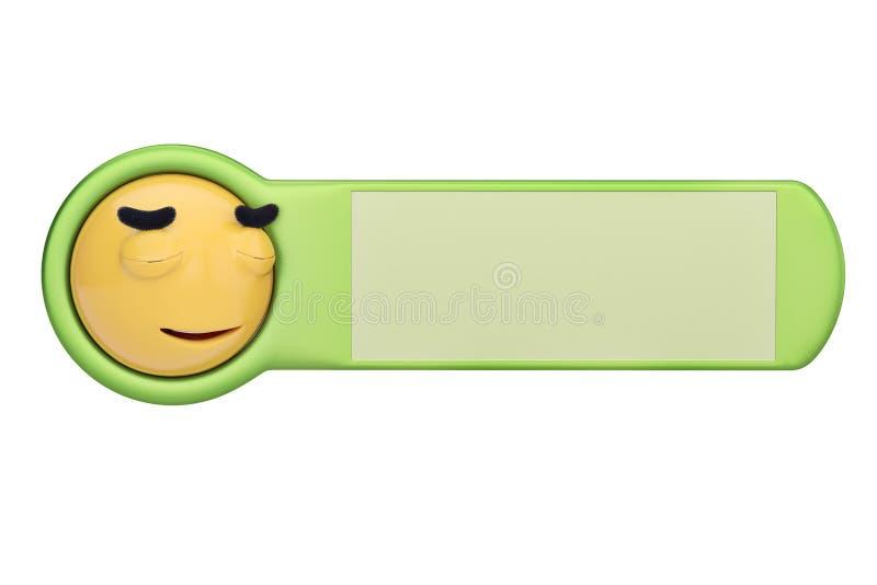 Uśmierzający twarzy emoticon na desce ilustracja 3 d ilustracji