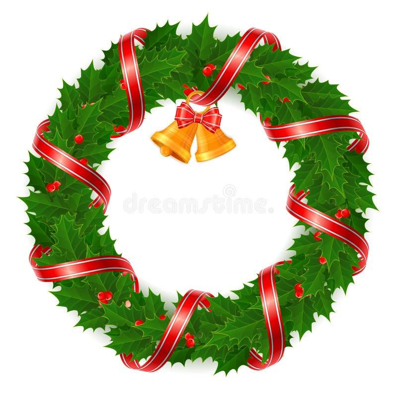 uświęcony Boże Narodzenie wianek ilustracja wektor