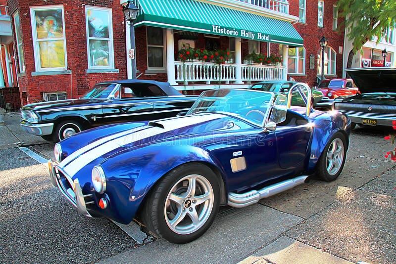 Uświęcony car show: 1963 Shelby kobry replika obraz royalty free