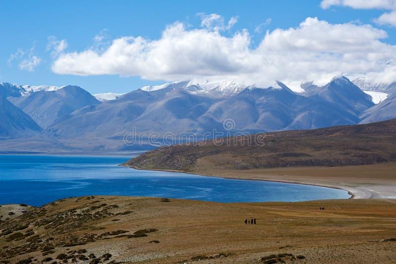 Uświęcony jezioro góra i fotografia royalty free