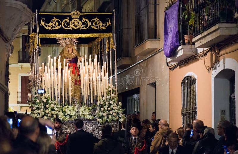Uświęcony tydzień w Badajoz obrazy royalty free