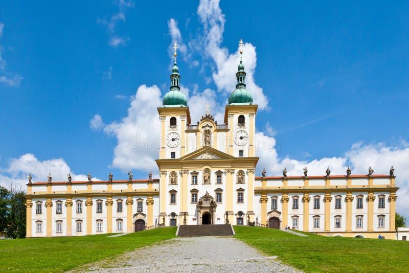 Uświęcony wzgórze kościół dopust maryja dziewica, grodzki Olomouc, republika czech W 1995 odwiedzał Pope Jan Paul II zdjęcia royalty free