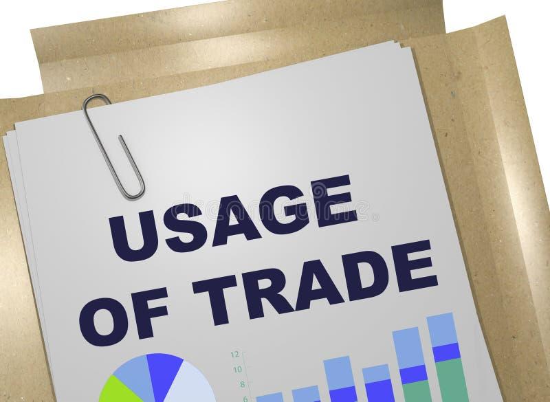 UŻYCIE handlu pojęcie ilustracja wektor