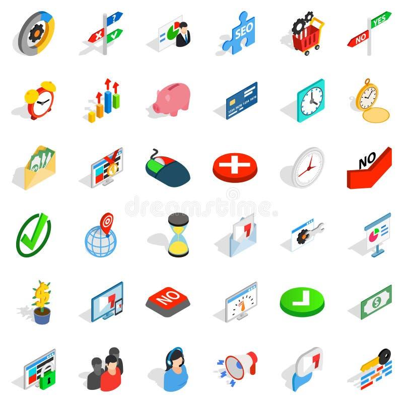 Użycie ikony ustawiać, isometric styl royalty ilustracja