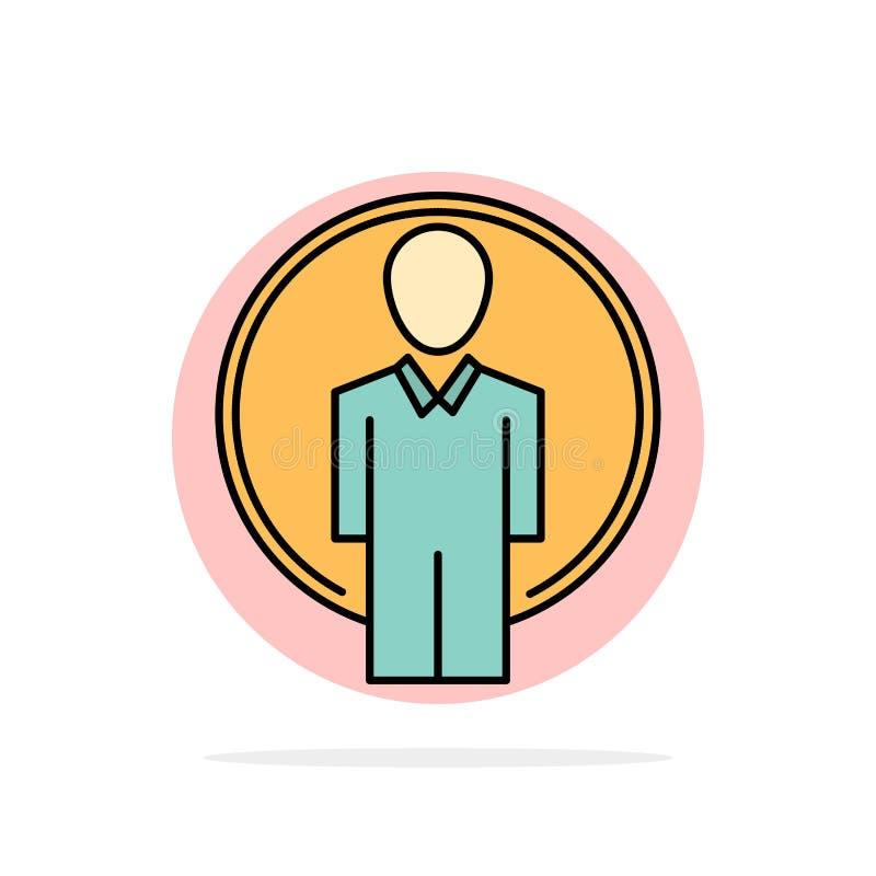Użytkownik, Id, nazwa użytkownika, wizerunku okręgu Abstrakcjonistycznego tła koloru Płaska ikona ilustracji