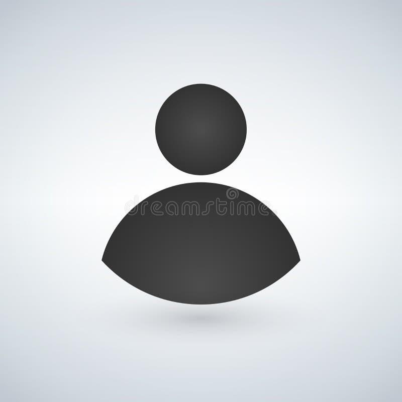 Użytkownik ikona w modnym mieszkanie stylu odizolowywającym na nowożytnym tle Użytkownik sylwetki symbol dla twój strona internet ilustracja wektor