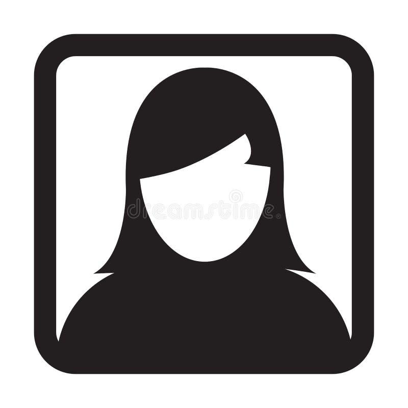 Użytkownik ikony Żeńskiej osoby symbolu profilu Avatar Wektorowy znak royalty ilustracja