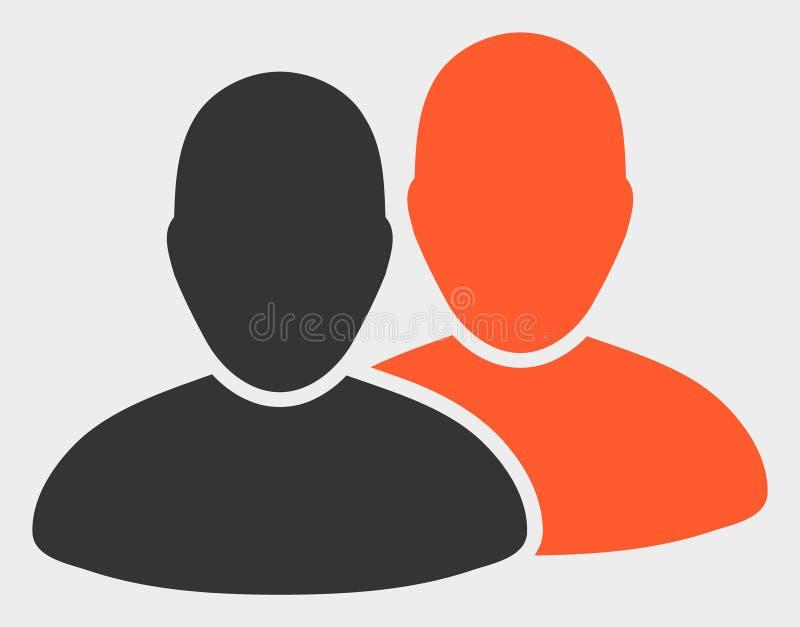 Użytkownik ikony Wektorowa ilustracja ilustracja wektor