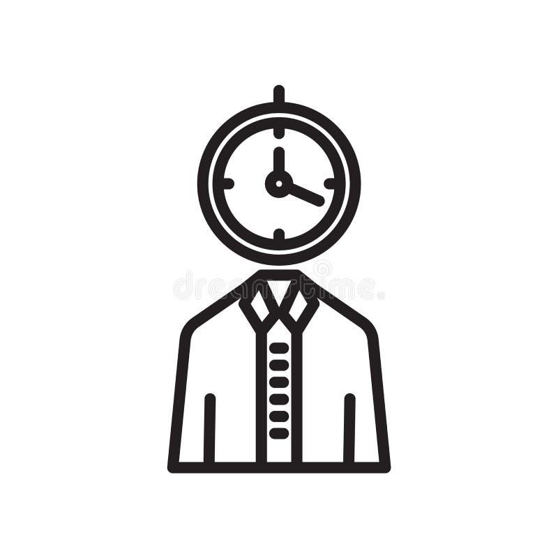 Użytkownik ikony wektoru znak i symbol odizolowywający na białym tle, użytkownika loga pojęcie ilustracja wektor
