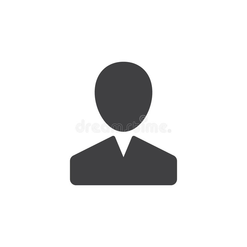 Użytkownik, osoba, obrachunkowy ikona wektor, wypełniający mieszkanie znak, stały piktogram odizolowywający na bielu royalty ilustracja