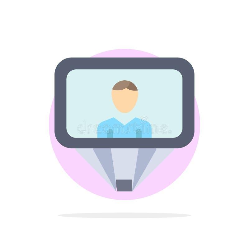 Użytkownik, profil, Id, nazwa użytkownika okręgu Abstrakcjonistycznego tła koloru Płaska ikona ilustracja wektor