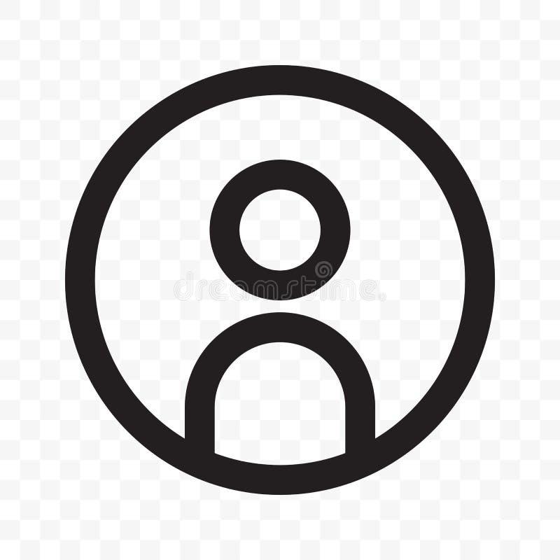 Użytkownika członka socjalny sieci avatar profilu wektoru ikona royalty ilustracja
