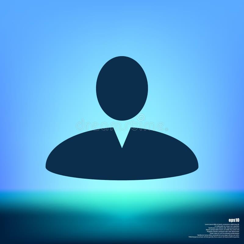 Użytkownika profilu sieci ikona zdjęcia stock