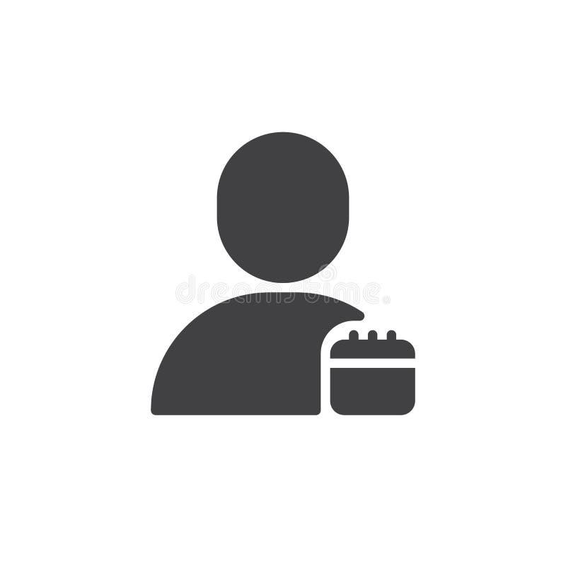 Użytkownika rozkładu kalendarza ikony wektor ilustracja wektor