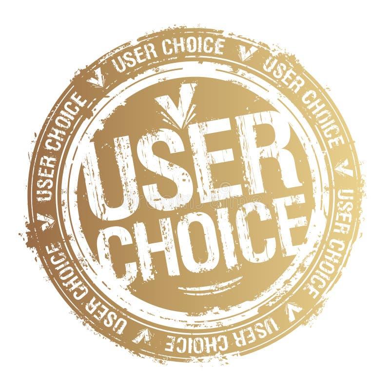 Użytkownika wyboru znaczek royalty ilustracja